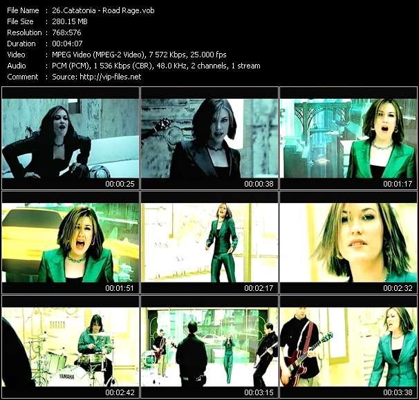 Screenshot of Music Video Catatonia - Road Rage