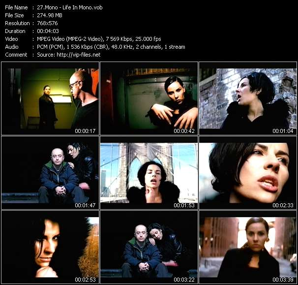 Screenshot of Music Video Mono - Life In Mono