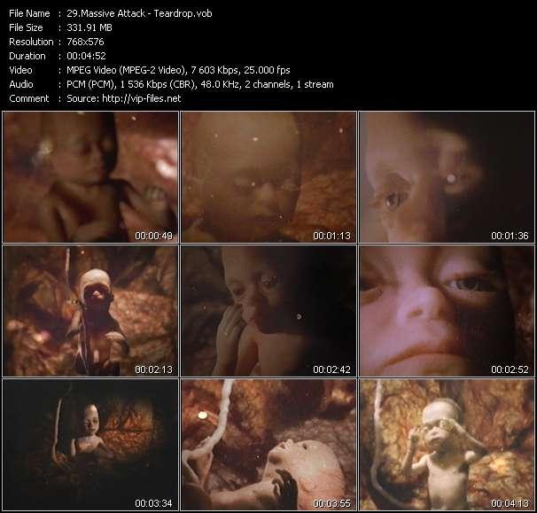 Screenshot of Music Video Massive Attack - Teardrop