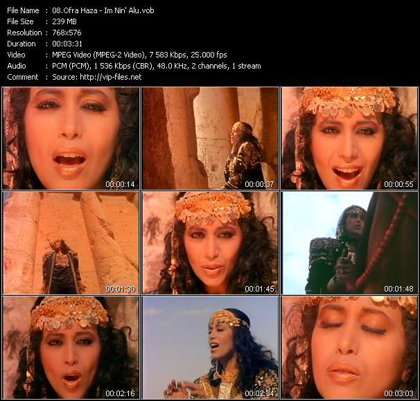 Ofra Haza video vob