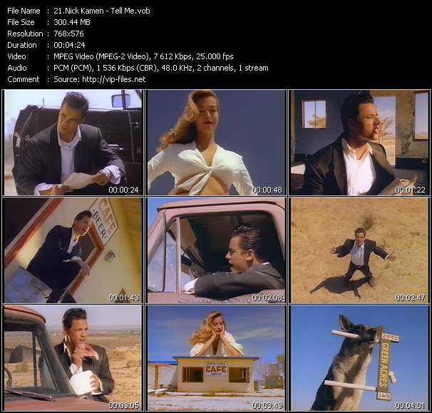 Screenshot of Music Video Nick Kamen - Tell Me