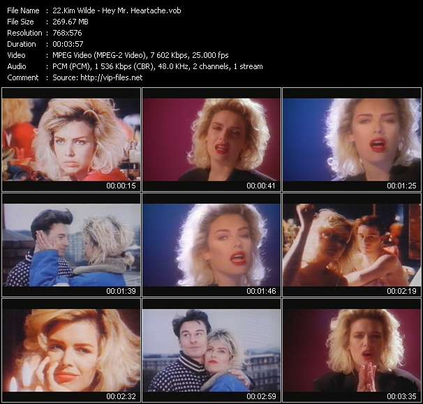 Screenshot of Music Video Kim Wilde - Hey Mr. Heartache