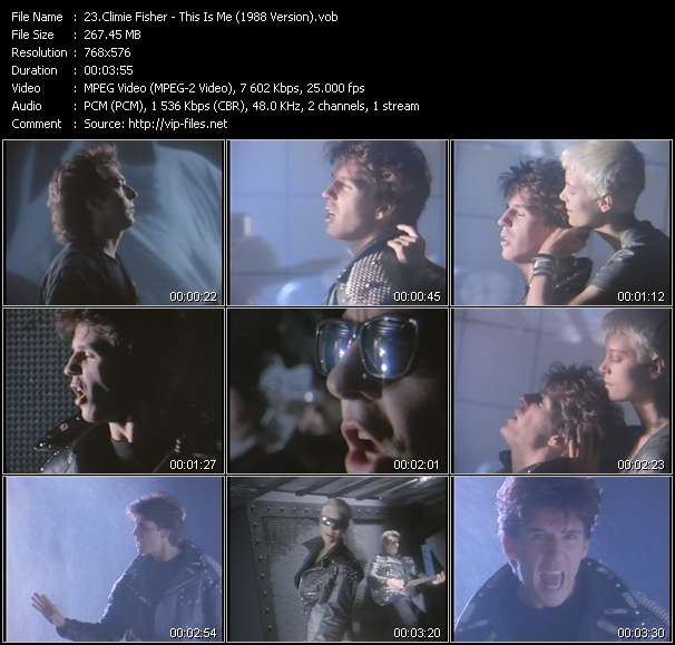 Screenshot of Music Video Climie Fisher - This Is Me (1988 Version)