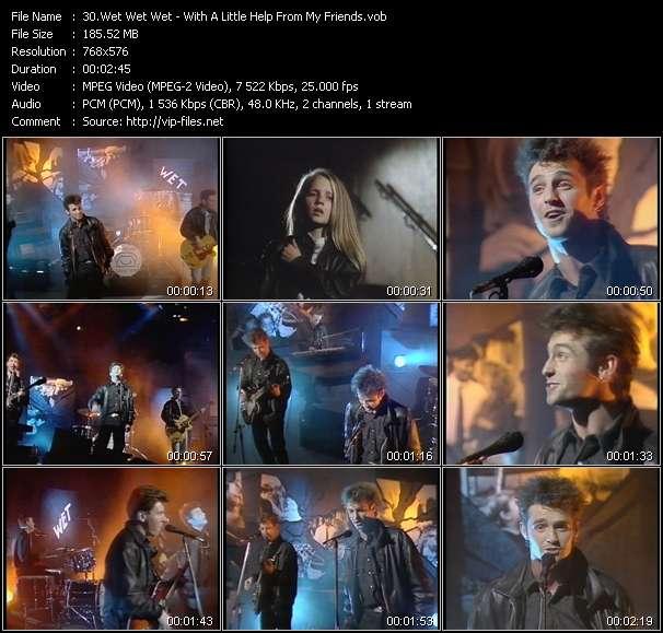 Screenshot of Music Video Wet Wet Wet - With A Little Help From My Friends