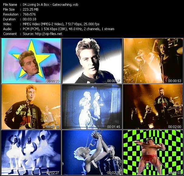 Screenshot of Music Video Living In A Box - Gatecrashing