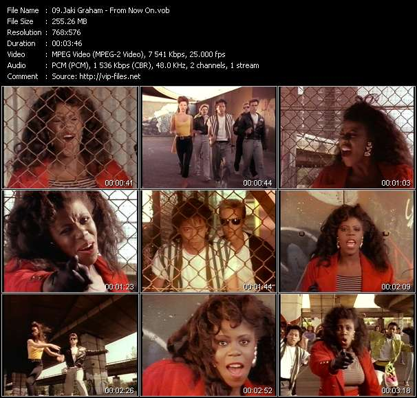 Screenshot of Music Video Jaki Graham - From Now On
