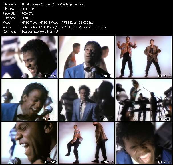 Screenshot of Music Video Al Green - As Long As We're Together