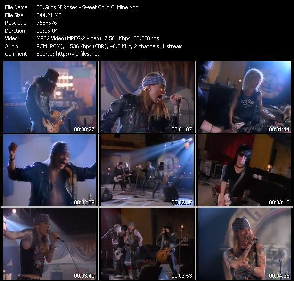 Guns N' Roses video vob