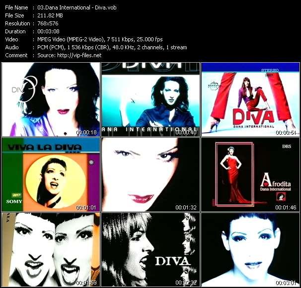 Screenshot of Music Video Dana International - Diva
