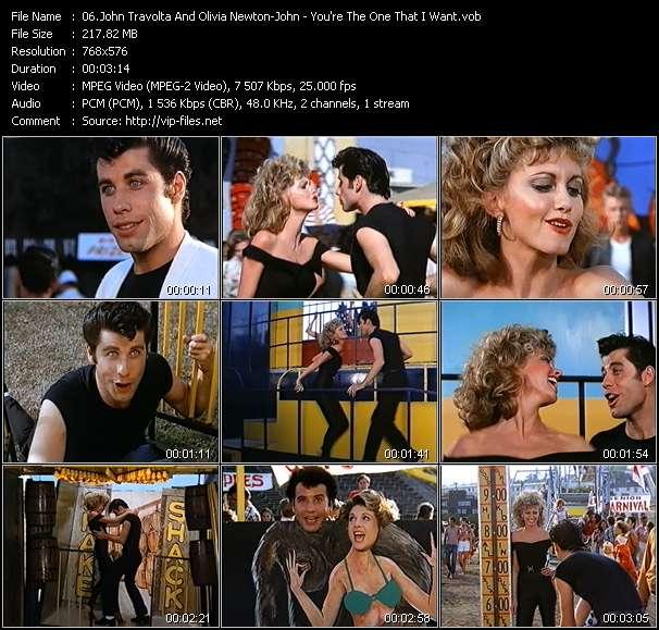 Screenshot of Music Video John Travolta And Olivia Newton-John - You're The One That I Want