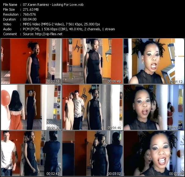 Screenshot of Music Video Karen Ramirez - Looking For Love