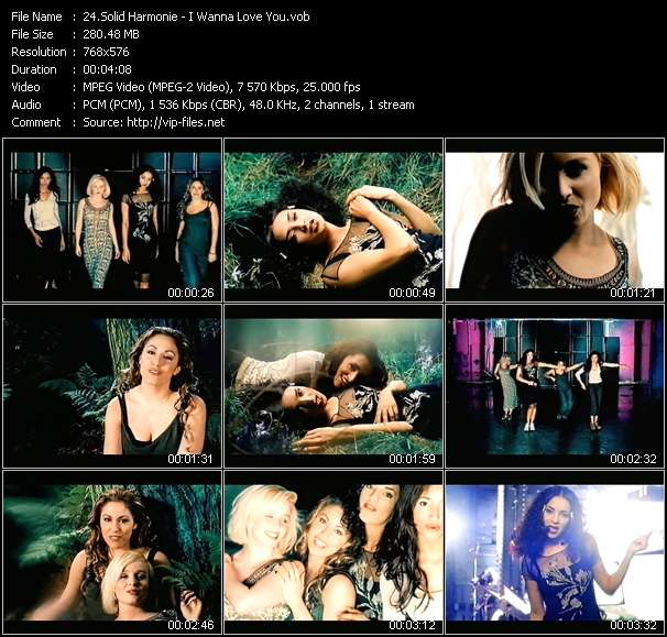 Screenshot of Music Video Solid Harmonie - I Wanna Love You