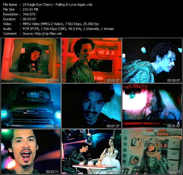 Screenshot of Music Video Eagle Eye Cherry - Falling In Love Again