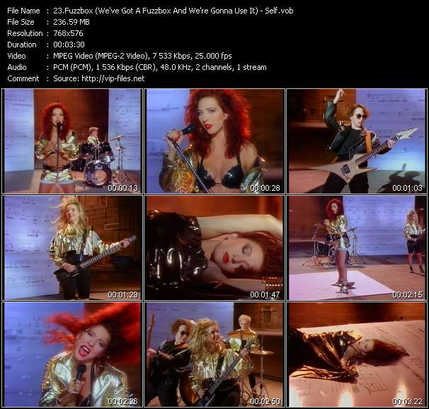 Fuzzbox (We've Got A Fuzzbox And We're Gonna Use It) video vob
