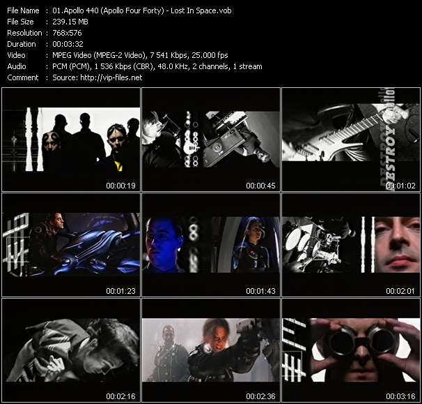 Screenshot of Music Video Apollo 440 (Apollo Four Forty) - Lost In Space