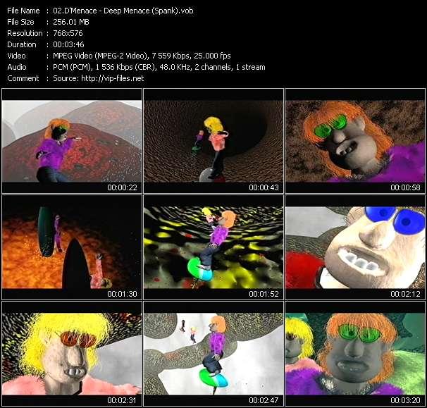 Screenshot of Music Video D'Menace - Deep Menace (Spank)