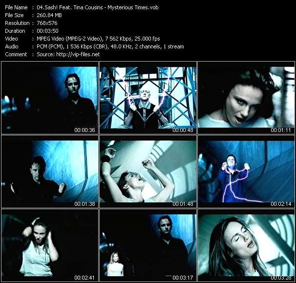 Screenshot of Music Video Sash! Feat. Tina Cousins - Mysterious Times