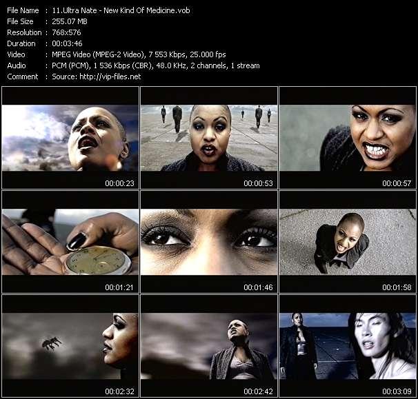 Screenshot of Music Video Ultra Nate - New Kind Of Medicine