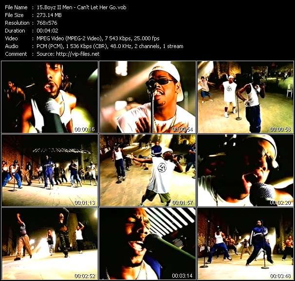 Screenshot of Music Video Boyz II Men - Can't Let Her Go