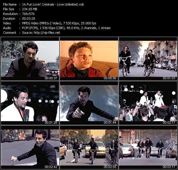 Screenshot of Music Video Fun Lovin' Criminals - Love Unlimited
