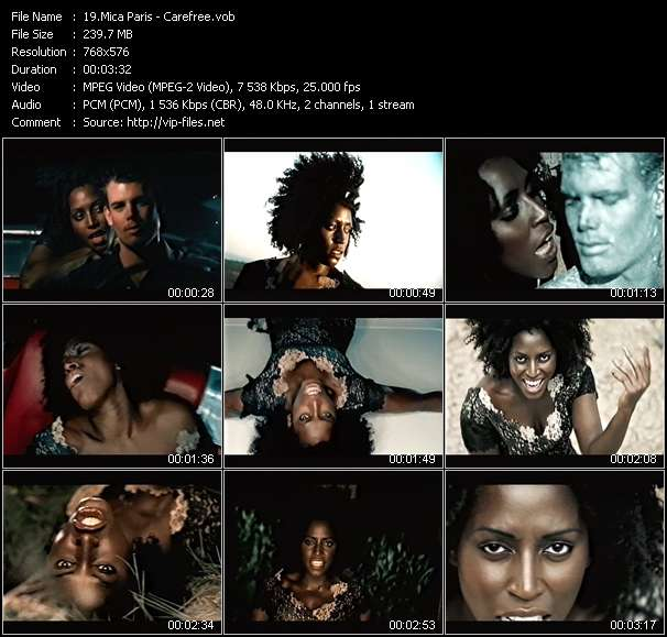 Screenshot of Music Video Mica Paris - Carefree