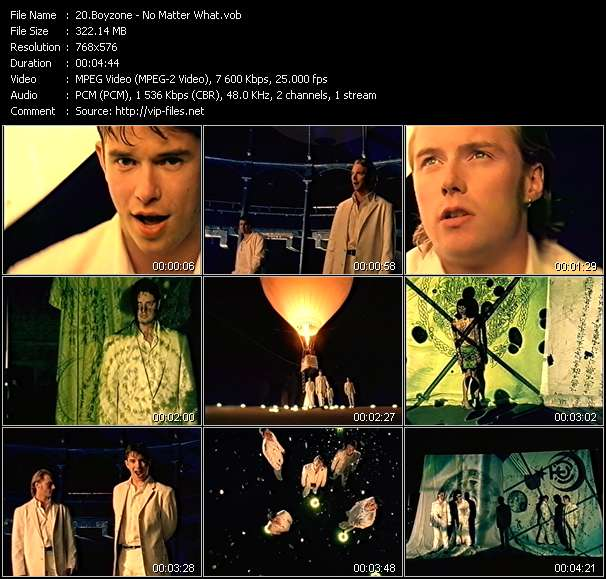 Screenshot of Music Video Boyzone - No Matter What