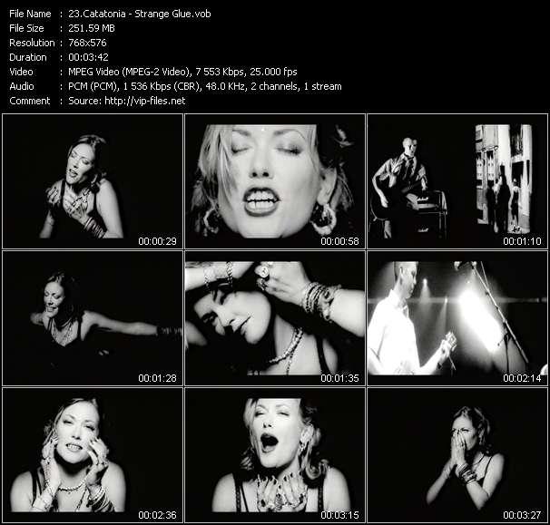 Screenshot of Music Video Catatonia - Strange Glue