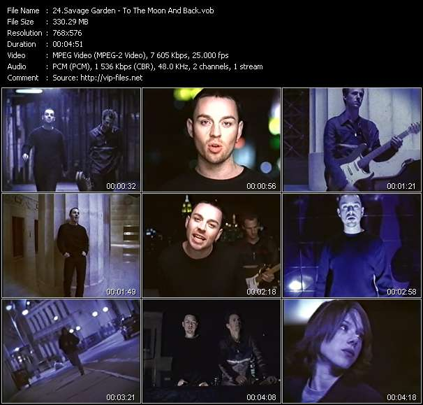 Screenshot of Music Video Savage Garden - To The Moon And Back