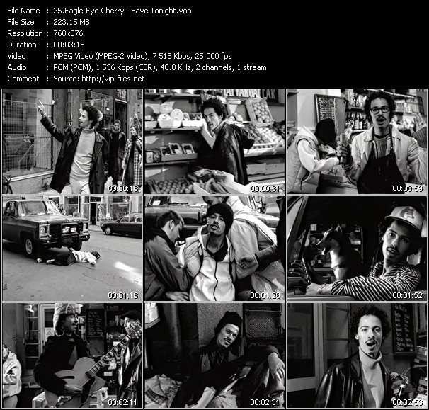 Screenshot of Music Video Eagle-Eye Cherry - Save Tonight