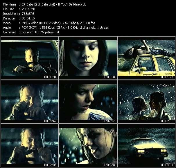 Screenshot of Music Video Baby Bird (Babybird) - If You'll Be Mine