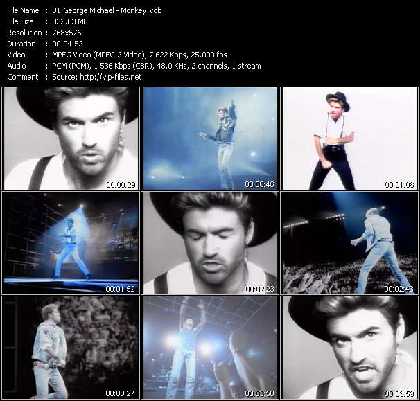 Screenshot of Music Video George Michael - Monkey