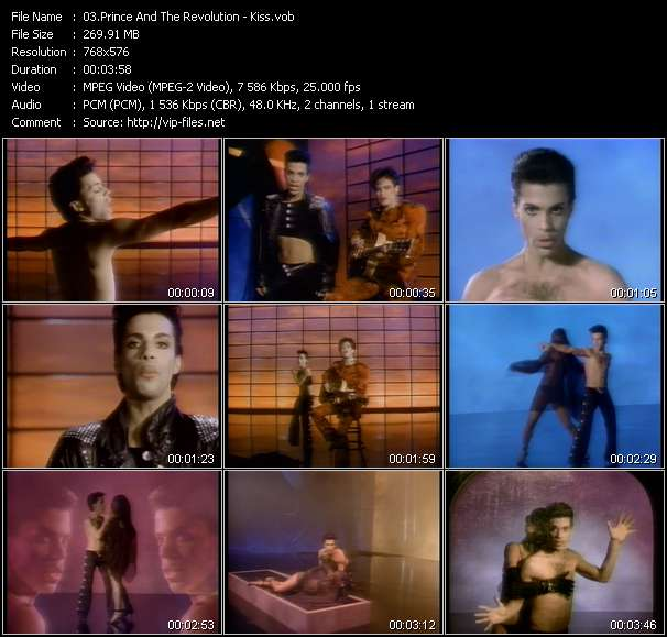 Screenshot of Music Video Prince And The Revolution - Kiss
