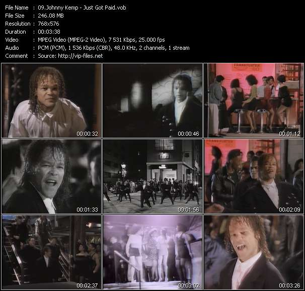 Screenshot of Music Video Johnny Kemp - Just Got Paid