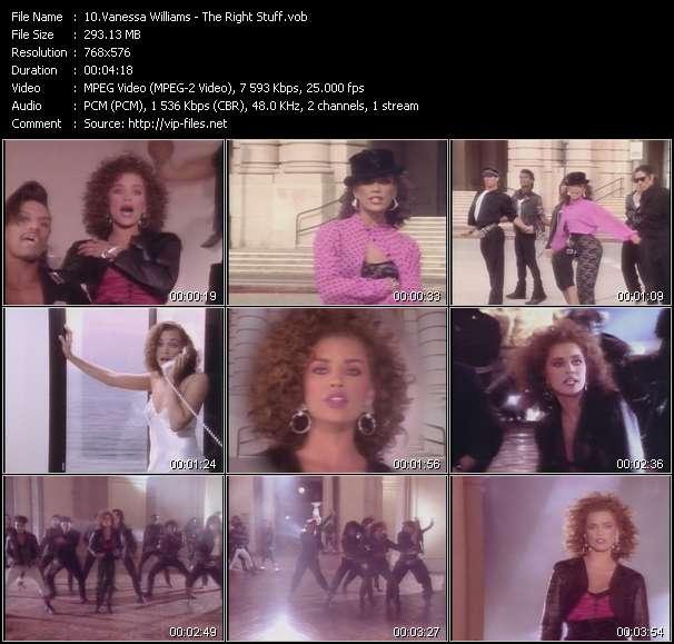 Screenshot of Music Video Vanessa Williams - The Right Stuff