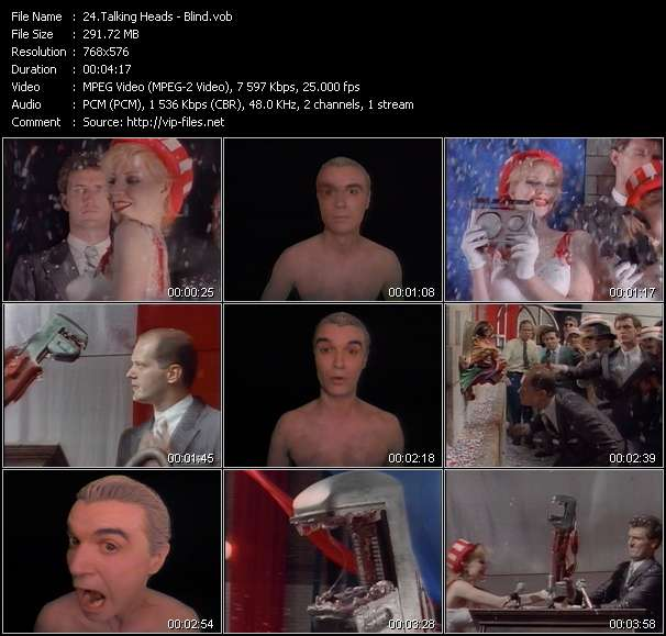 Talking Heads video vob