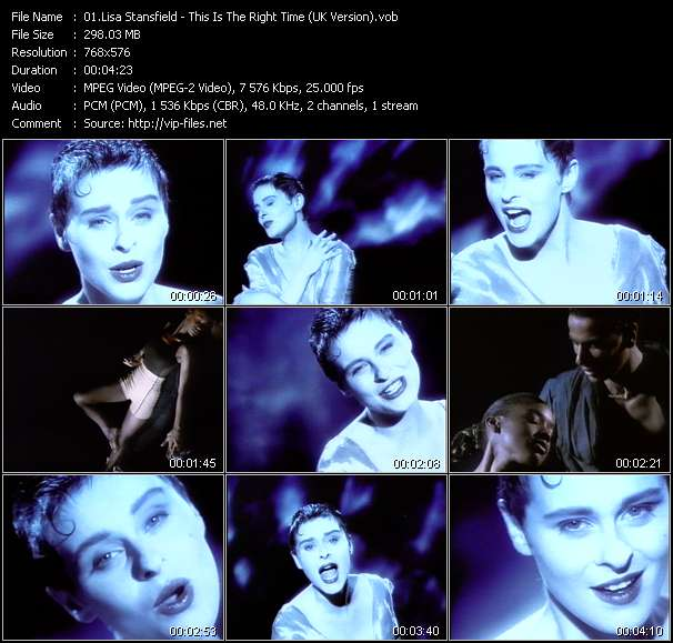 Lisa Stansfield video vob