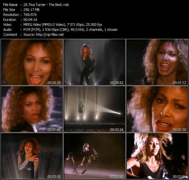 Tina Turner clips musicaux vob