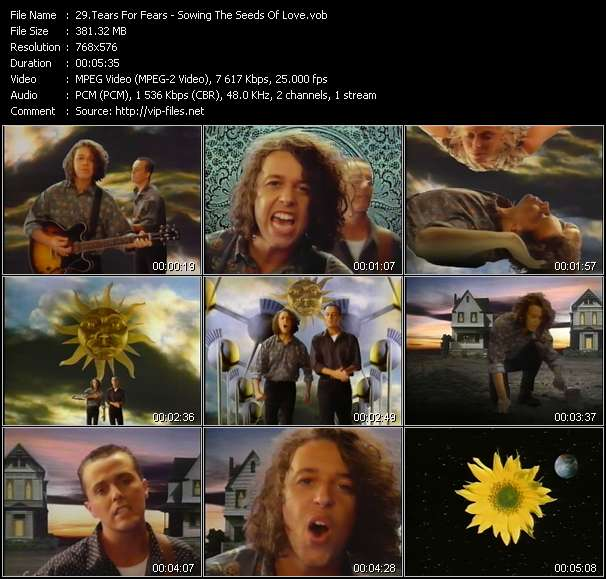 Tears For Fears clips musicaux vob