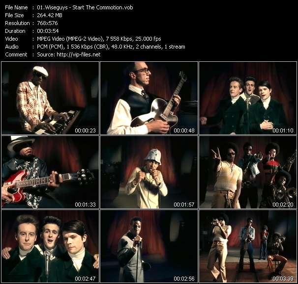 Screenshot of Music Video Wiseguys - Start The Commotion
