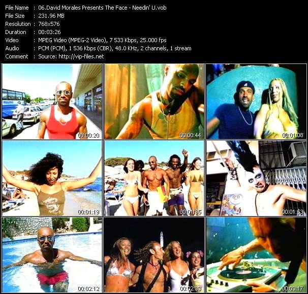 Screenshot of Music Video David Morales Presents The Face - Needin' U