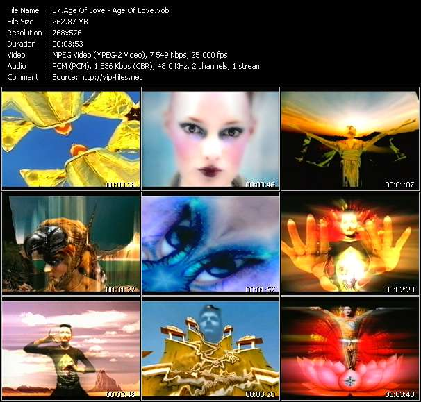 Screenshot of Music Video Age Of Love - Age Of Love
