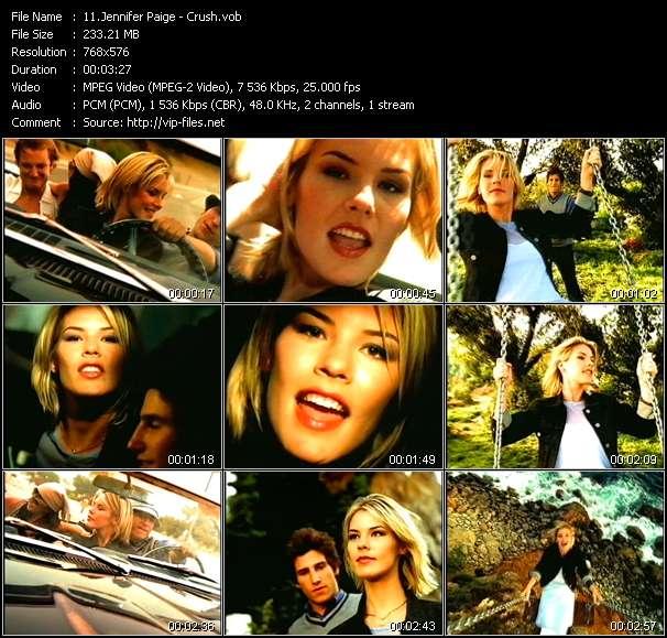 Screenshot of Music Video Jennifer Paige - Crush