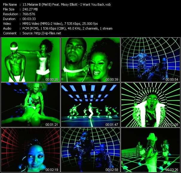 Screenshot of Music Video Melanie B (Mel B) Feat. Missy Elliott - I Want You Back