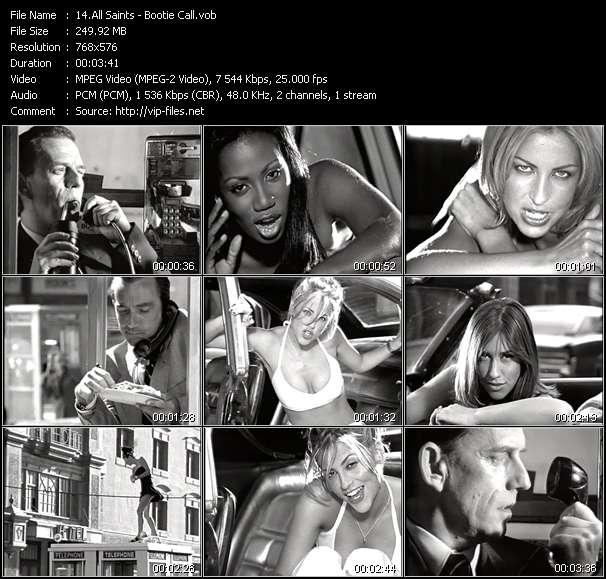 Screenshot of Music Video All Saints - Bootie Call