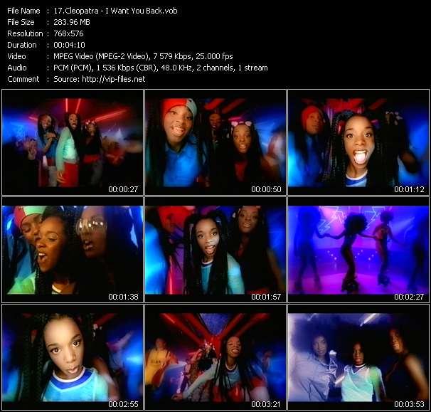 Screenshot of Music Video Cleopatra - I Want You Back