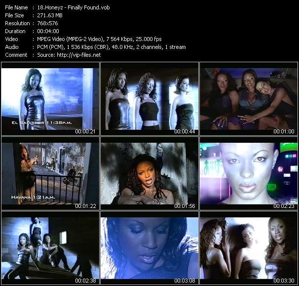 Screenshot of Music Video Honeyz - Finally Found