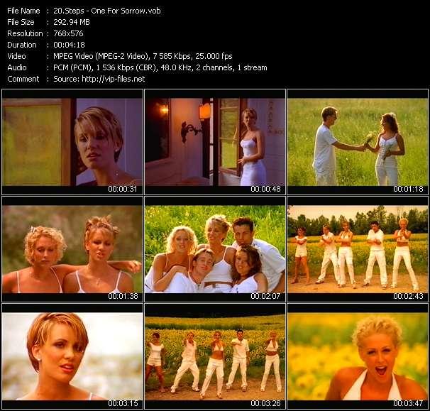 Screenshot of Music Video Steps - One For Sorrow