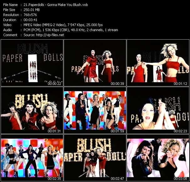 Screenshot of Music Video Paperdolls - Gonna Make You Blush