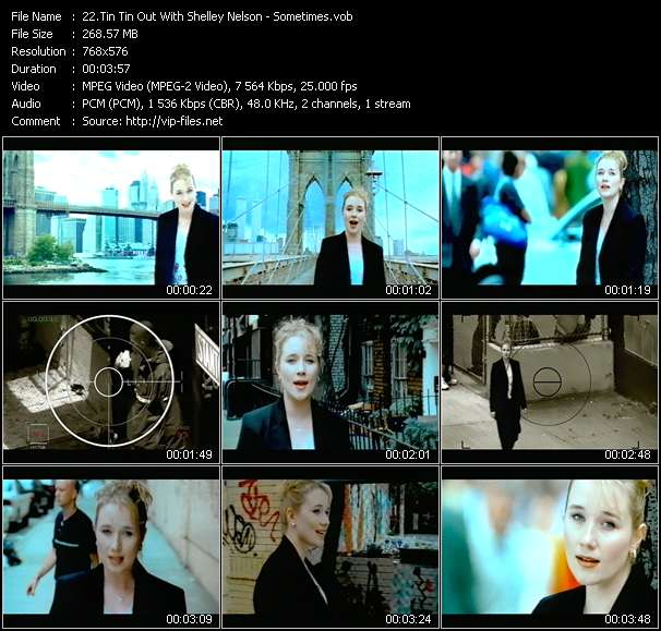 Screenshot of Music Video Tin Tin Out With Shelley Nelson - Sometimes