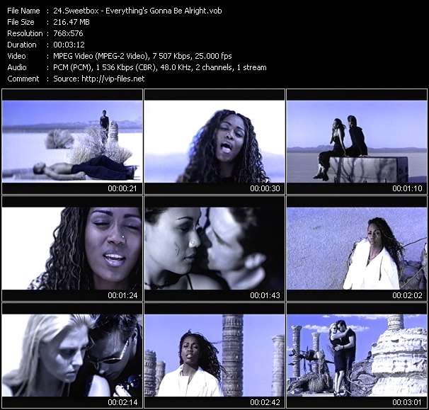 Screenshot of Music Video Sweetbox - Everything's Gonna Be Alright